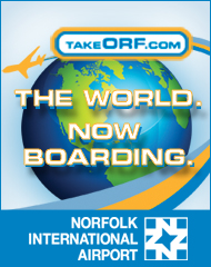 norfolk airport: the world is boardiing