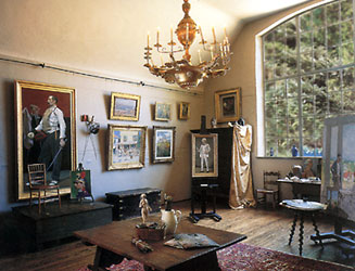 Interior of Gari Melcher's studio