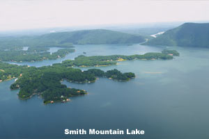 Aerial photo of Smith Mountain Lake