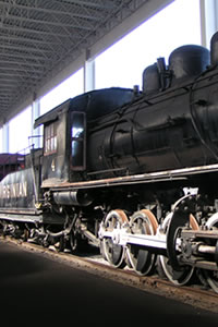 Up close and personal opprotunity with a steam locomotive